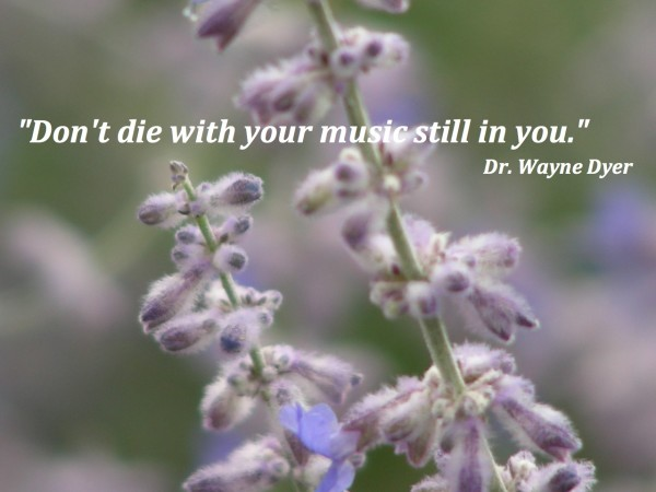Don't die with your music still in you quote