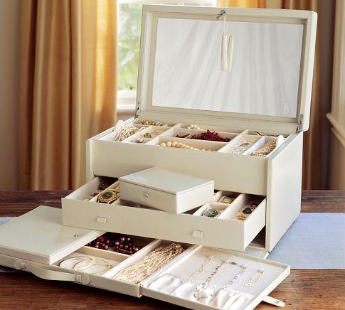 Jewelry organization options- Jewelry box from Pottery Barn