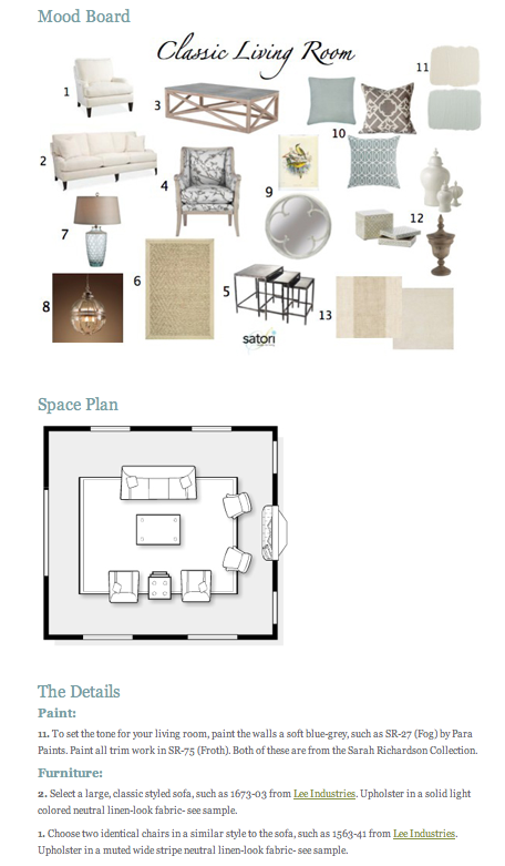Sample E-Design Kit | Satori Design for Living