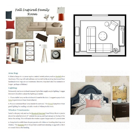 Satori Signature Room Design Plan with Mood Board, Space Plan, Furniture and Decor Shopping List and More!