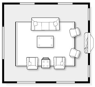 E-Design Space Plan for Classic Living Room   Satori Design for Living