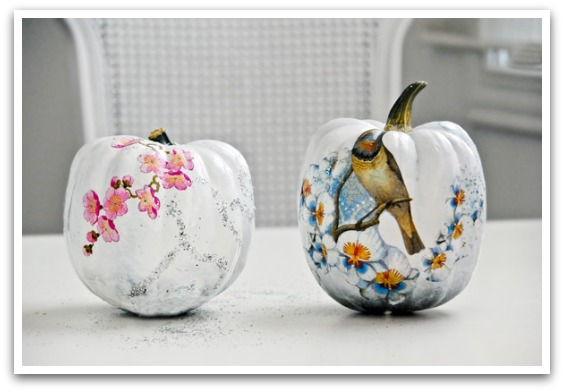 Decoupaged Pumpkins via Funkytime
