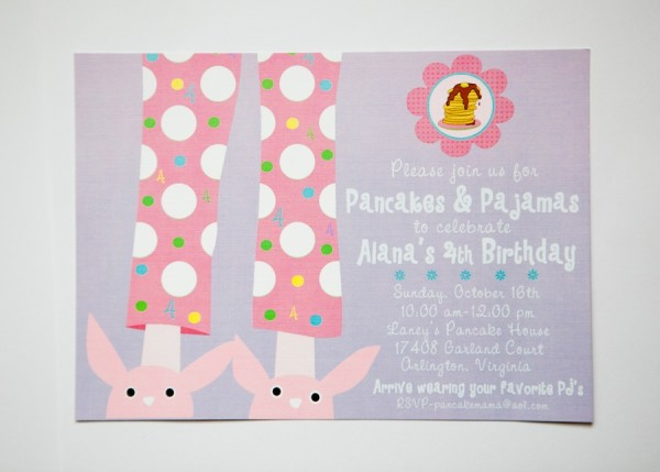 Pancakes & Pajamas Birthday Invitation- Libby Lane Press
