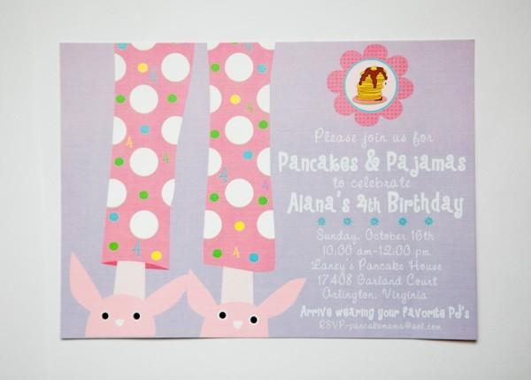 Pancakes & Pajamas Birthday Invitation- Libby Lane Press