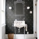 Rooms with Black Walls - Powder Room via Design Sponge
