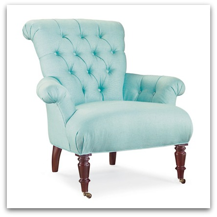 Button Tufted Seafoam Chair Lee Industries via Layla Grace