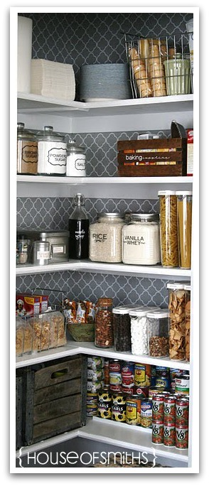 Tips for an Organized Pantry via House of Smiths