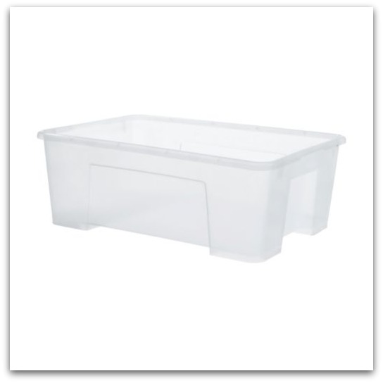 Tips for an Organized Pantry- SAMLA Clear Storage Bin