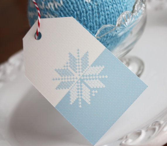 Fair Isle Gift Tag by Green Beansie Ink