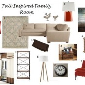 Case Study: Fall Inspired Family Room