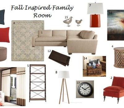 all Inspired Family Room Makeover - Decor and Furniture in Moody Blue, Burnt Orange and Neutral Tones - Satori Design for Living