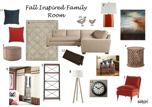 Fall Inspired Family Room Design | Satori Design for Living