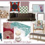 Fun and Modern Living Room Mood Board