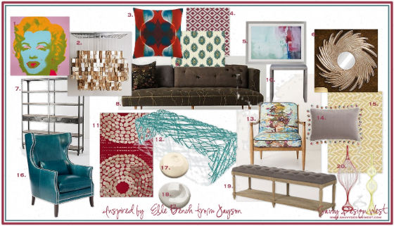 Fun and Modern Living Room Mood Board