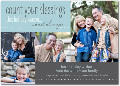 Count your blessings christmas card