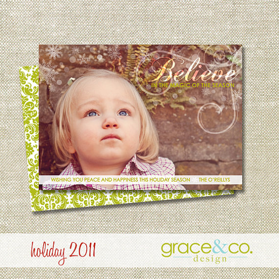 Believe Christmas Card via Grace & Co.