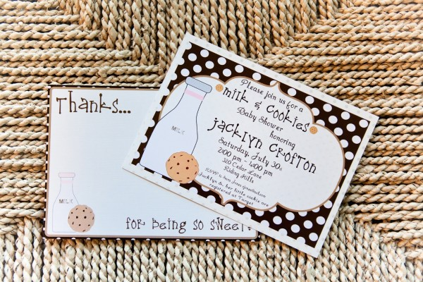 Libby Lane Press Milk & Cookies Party Invitation