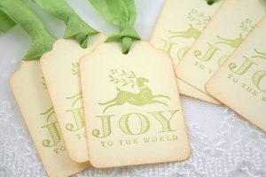 Holiday Gift Tags via On the Wings Paperie on Etsy