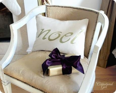 DIY Christmas pillow - Centsational Girl