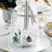Using Cloches in Holiday Decorating