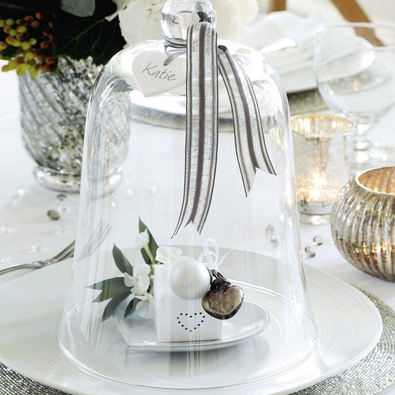 Place Setting Cloche for the Holidays