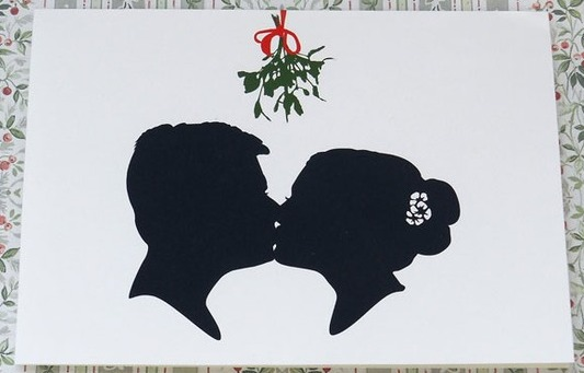Silhouette Christmas Card on Etsy
