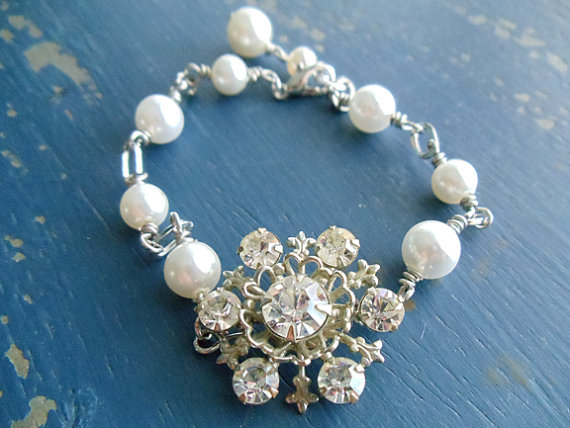 Repurposed Vintage Snowflake Brooch by Nostalgic Summer