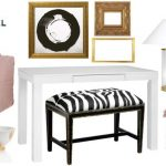 Glam and Feminine Entryway Mood Board