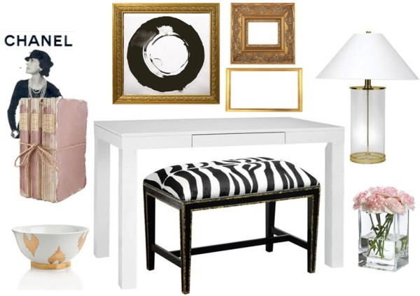 Glam and Feminine Entry Way Mood Board