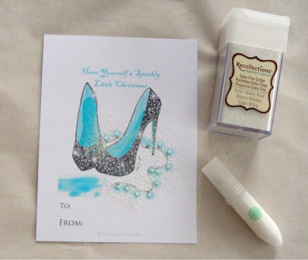 Gift Wrapping Ideas   shoe tag