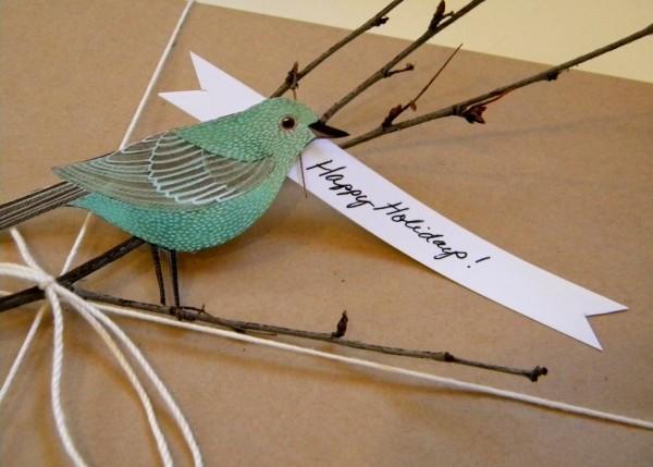 Bird Christmas Gift Tag