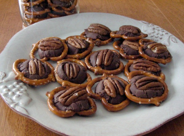 Cookie Exchange- chocolate-caramel-pretzels