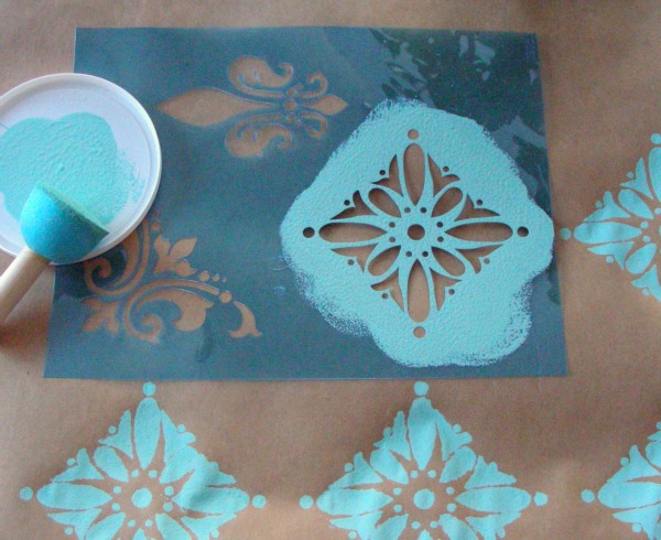 gift wrapping ideas | hand painted gift wrap | Satori Design for Living
