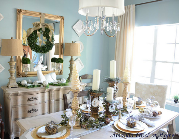Nature Inspired Christmas Tablescape