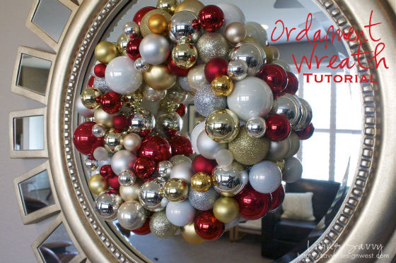 Red, Gold and Silver Shimmery Christmas Wreath