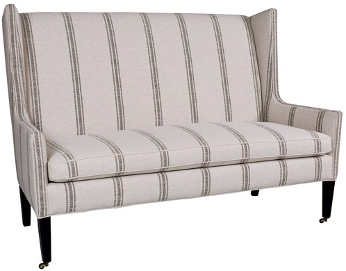 Zinc Door Lincoln Settee- Grain Sack Settee