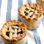 Lattice Top Blueberry Pie in a Jar by Elizabeth Stark for Babble.com