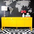 Decorating with Yellow - Bright Yellow Dresser via East Coast Creative