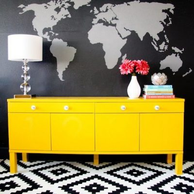 Decorating with Yellow - Bright Yellow Dresser via East Coast Creative