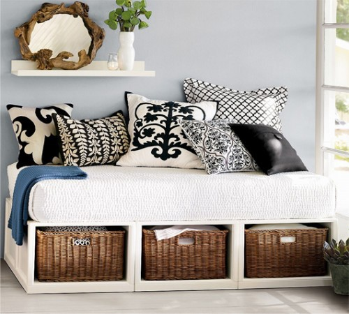 Black and White Decorative Pillows via Pottery Barn