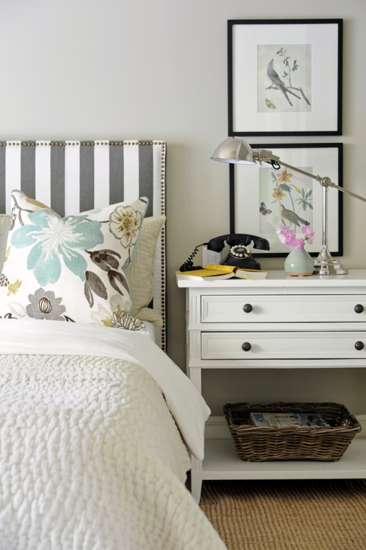 Striped Headboard Kerrisdale Design