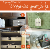 Favorite Home Organizing Tips {A Curbly Feature}