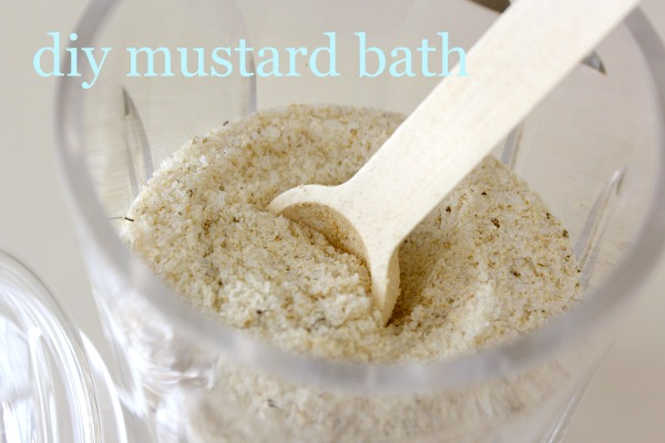 DIY Mustard Bath Recipe for Colds and Flu | Homemade Mustard Bath Soak | Satori Design for Living