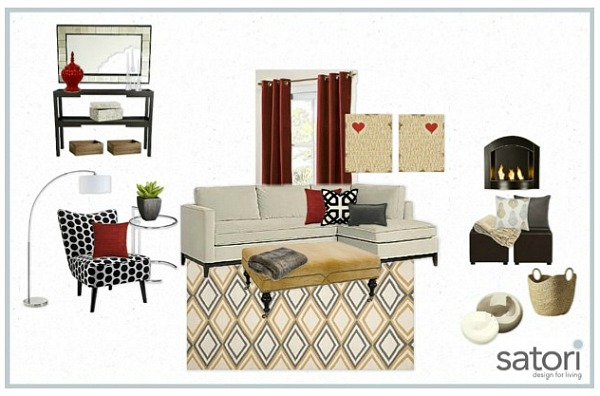 One Room, Two Looks- Red Bonus Room Design