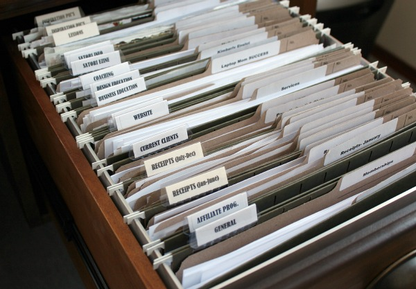 Organized Office File Drawer