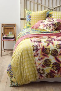 Decorating with florals - bedding from Anthropologie