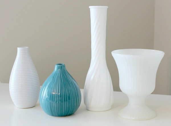 Thrifty Finds - Milk Glass and Ceramic Vases