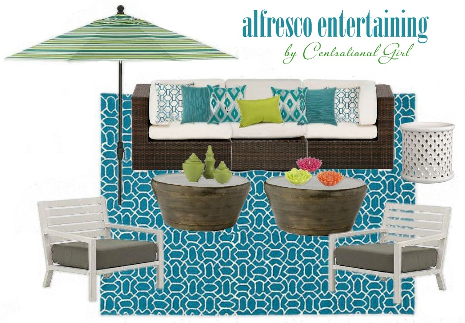 Alfresco Entertaining Outdoor Space Moodboard by Centsational Girl