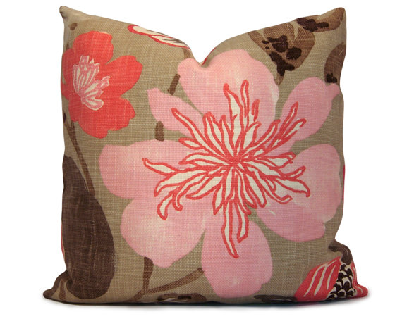 Floral Pillow - Stitched Nestings