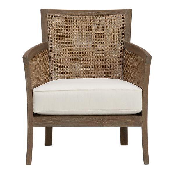 Crate and Barrel Blake Grey Wash Lounge Chair